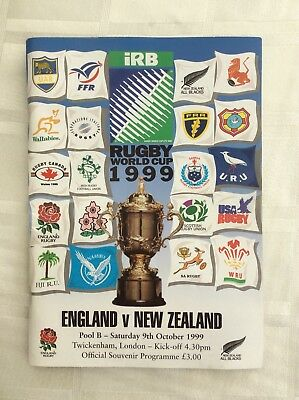 Rugby World Cup 1999 England v New Zealand Programme