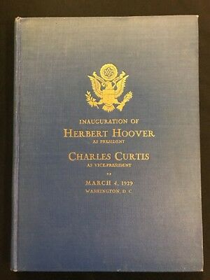 Report of Inaugural Committee for the Inauguration of Herbert Hoover 1929 HC