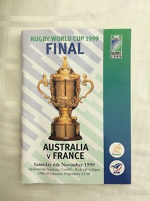 Rugby World Cup 1999 Final Programme