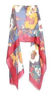 Subtle Ladies Burgundy Anchor Grey Apricot Floral Inspired Frill Winter Scarf S9