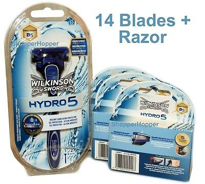 Wilkinson Sword HYDRO 5 Shaving Razor & Blades Pack (14 Blades) - FREE POST