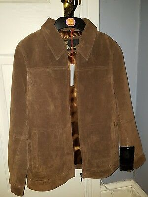 Paragon Brown Suede Leather Jacket/Coat Child 11-12 BNWT girl boy