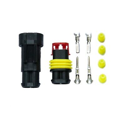 Superseal AMP/Tyco 1 2 3 4 5 Way Waterproof 12V Electrical Connectors Kit Pins