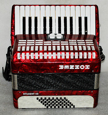 Hohner STUDENT 48 BASS-Piano-Accordion-Akkordeon--Excellent