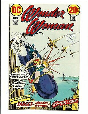 WONDER WOMAN # 205 (Origin NUBIA, Bondage Cover, APR 1973), FN