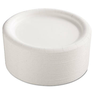 "Premium Coated Paper Plates, 9"" dia, White, 125/Pack, 4 Packs/Carton CP9AJCWWH14"