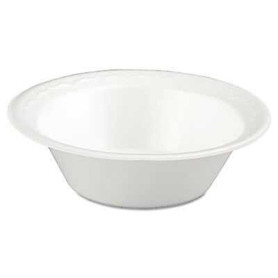 Foam Dinnerware, Bowl, 12oz, White, 125/Pack, 8 Packs/Carton 82100