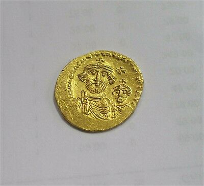Byzantine Gold Coin Solidus Constans Ii Constantine Iv 654-659 Ad Au+