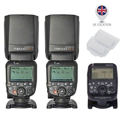 Yongnuo YN-E3-RT Transmitter + 2X YN600EX-RT II TTL Flash Speedlite For Canon UK