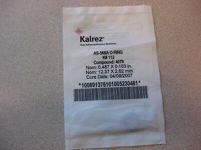 Kalrez UltraPure O-Ring, AS-568A  K# 112, Compound 4079, New, Sealed