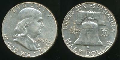 United States, 1963-D Half Dollar, Franklin (Silver) - Uncirculated