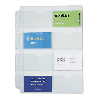 Business Card Holders for Looseleaf Planners, 8 1/2 x 11, 5/Pack 87325
