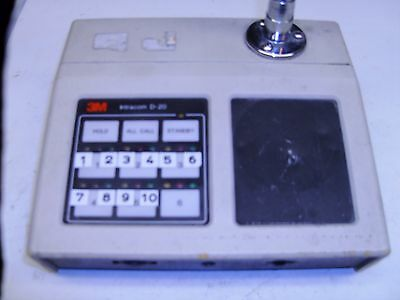 3M D20 Intercom - D-20 - 445AA - 6 Station Intracom with Gooseneck Microphone