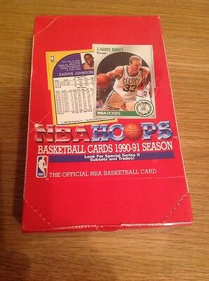 UNOPENED BOX (36 Packs) NBA HOOPS 1990 BASKETBALL TRADING CARDS