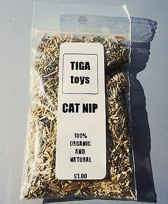 Catnip Organic Premium Catnip filled treat bag 5 grams by Tiga Toys,cat treat