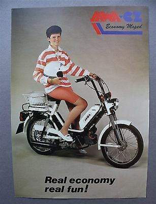 JAWA - CZ 'ECONOMY' MOPED - SALES BROCHURE c 1990 / 1991
