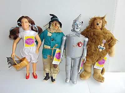 Lot of 4 - The Wizard of Oz  - 1987 Turner Dorthy, Tin Man, Scarecrow & Lion