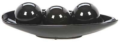 "Hosley Black Decorative Bowl and Orb Set-13.5"" Long. Ideal GIFT for weddings ..."