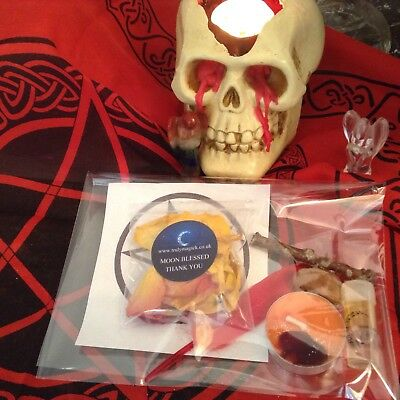 HALLOWEEN Wicca WITCHCRAFT spell kit ~ SHAMHAIN Ritual Kit ~ SPELL CANDLE KIT