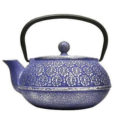 Primula Cast Iron 34-Ounce Teapot with Stainless Steel Infuser and Loose Gree...