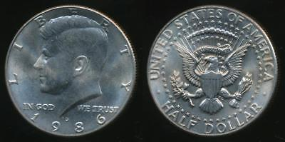 United States, 1986-D Half Dollar, Kennedy - Uncirculated