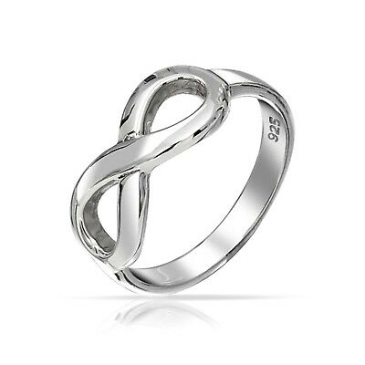 Bling Jewelry Figure 8 Infinity Symbol Sterling Silver Ring 7.5