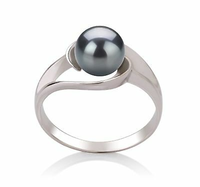 PearlsOnly - Clare Black 6-7mm AAA Quality Freshwater 925 Sterling Silver Cul...