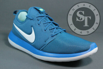 dd3693c98485 MEN S SIZE 9 Nike Roshe Two Running Shoes Industrial Blue   White ...