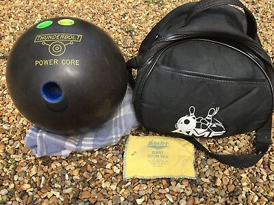 Tenpin bowling ball with carry bag