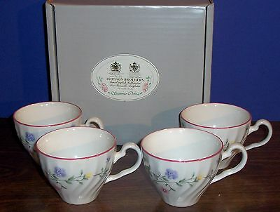 4 pc  JOHNSON BROTHERS SUMMER CHINTZ CUPS  NEW IN BOX