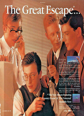 BLUR The Great Escape - Vintage UK Magazine Advert Picture 1995 RARE Britpop
