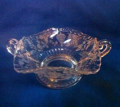 Cambridge Rose Point Rosepoint 3500/47 Handled Open Candy Dish