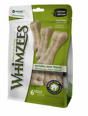 Whimzees Rice Bone 9 Pack - Natural Vegetable Dental Chew Treat Gluten Free