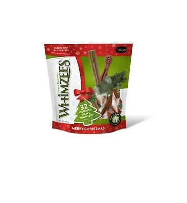 Whimzees Christmas Variety Pack Small 32 Pieces - Natural Dental Chew Treat