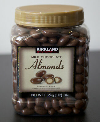 New Sealed Kirkland Milk Chocolate Almonds 3 Lb Free Worldwide Shipping