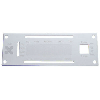 KENWORTH AC CONTROL Plate Stainless Steel with Opening - $20 73
