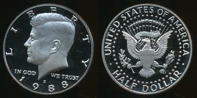 United States, 1988-S Half Dollar, Kennedy - Proof