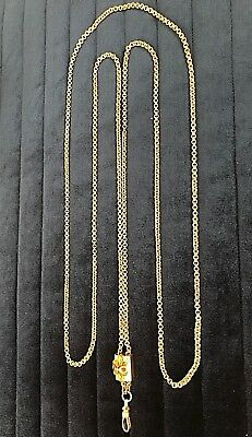Antique Victorian Gold Filled Slide Chain Necklace