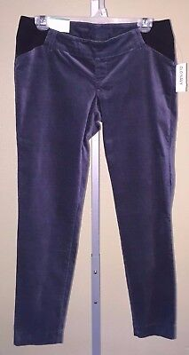Women's Old Navy Maternity Side Panel Blue Ankle Length Pixie Pants, 2