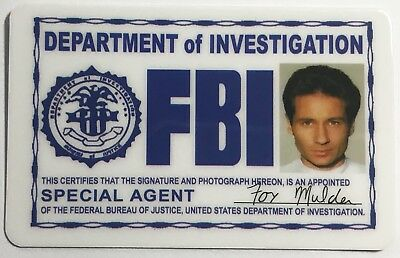 Special Agent Fox Mulder / FBI ID Card Novelty / X-Files