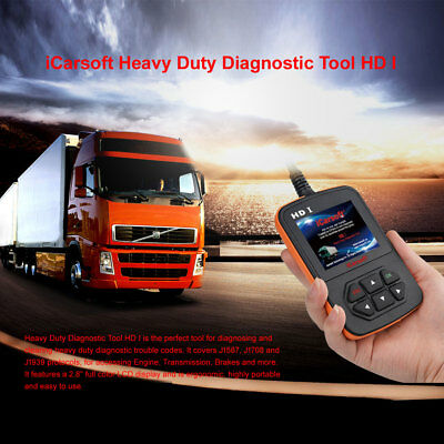 Icarsoft Hd I Heavy Duty Commercial Truck Obdii Diagnostic Scanner Dtc Reset