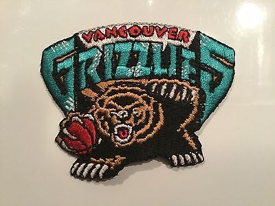"""Vancouver Grizzlies iron on patch NBA defunct 2.5"""" x 2"""""""