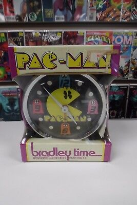 PAC-MAN Alarm Clock Bradley Time ~ 1980 Sealed In Box