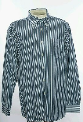 ccb138c8a Tommy Hilfiger Vintage Long Sleeve Shirt Striped Button Block Logo XL  2PlyCotton