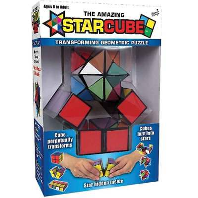 Kids Magic Star Infinite 3D Rubic Cube Game Puzzle Twist Toy Party Travel  Gift
