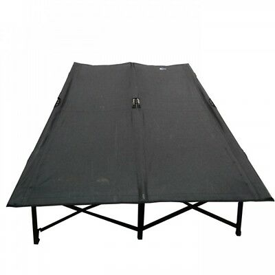 Wild Camping Quick Folding Steel Frame Double Camping Camp Bed