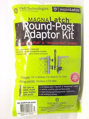 MAGNALatch Round Post Adapter Kit For Top or Vertical Pull D&D Technologies