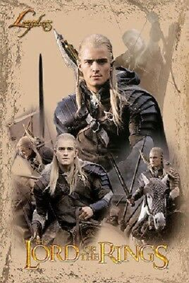 2003 Lord Of The Rings Return Of The King Legolas Collage Poster 22X34 New