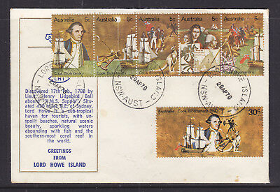 "Souvenir Cover: 1970 Cook  ""lord Howe Island Fdc""  Rare!!!"