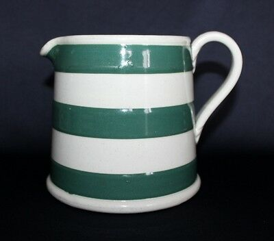 Large Vintage Australian Pottery BAKEWELLS Milk Jug Green Stripes C. 1918-40's
